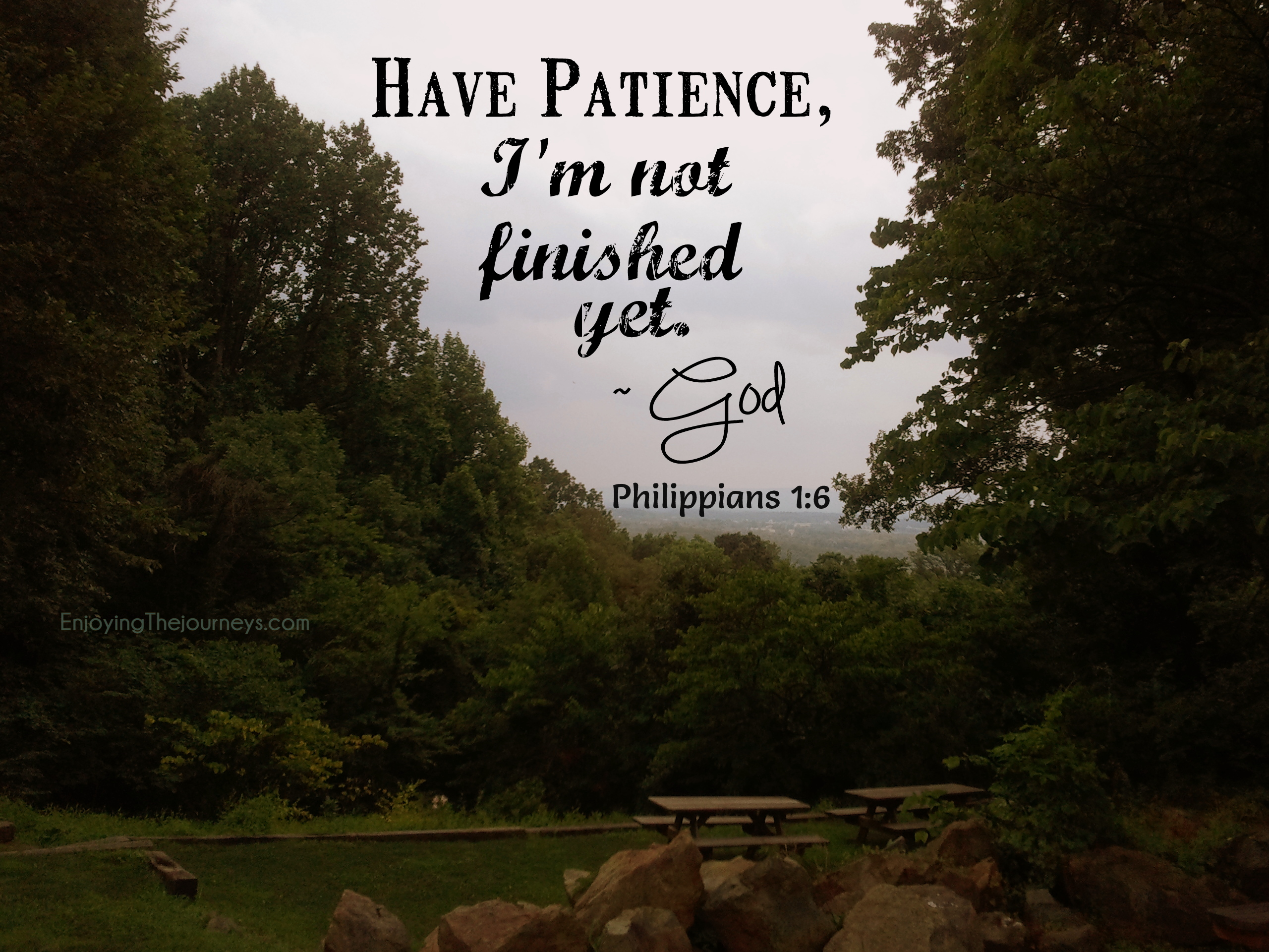 How to be patient with god